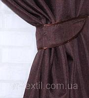 "Однотонная ткань ""Лён мешковина"". Высота 2,8м. Цвет шоколадный. 107ш"