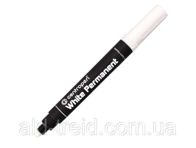 Маркер перманентный Centropen 8586; 2,5мм белый