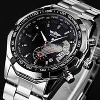 Чоловічий механічний годинник Winner Titanium. Стильний металевій наручній годинник  з датою
