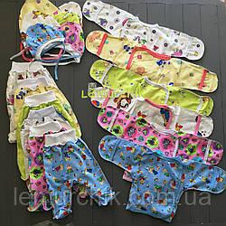 Комплект для новонародженого байка (сорочечка+повзунки+шапочка)