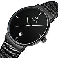 Мужские наручные часы Wwoor Lux. Стильные кварцевые часы с датой