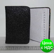 """Телефонная книжка (A7) KZB-7312 """"Кожа черная"""""""