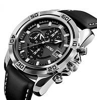 Мужские наручные часы Skmei 9156 Kapitan. Классические часы на батарейке с отображением даты