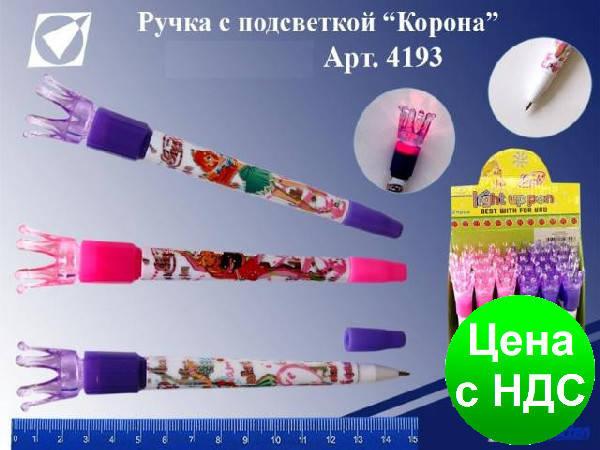 """Ручка шариковая с подсветкой 4193 """"Корона"""", фото 2"""