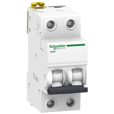 2P 1A C 6кА Модульний автоматичний вимикач A9K24201