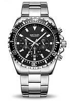 Мужские наручные часы Megir America. Классические кварцевые часы на батарейке с хронографом