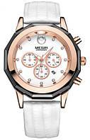 Женские наручные часы Megir 2042 Guaro. Классические кварцевые часы с хронографом