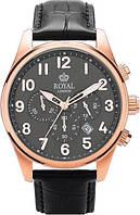 Мужские наручные классические часы Royal London 41201-03. Стильные кварцевые часы с хронографом и датой