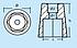 Анод під гвинт, діаметр вала 45 мм, шестикутник, фото 2