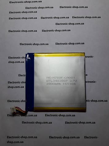 Аккумулятор SmartPad i7  M-MPI743G оригинал б.у, фото 2