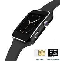 Умные часы X6 Black с Bluetooth, камерой, сим-картой и сенсорным экраном. Смарт часы (smart watch) Uwatch