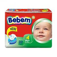 Подгузники Bebem 4 Maxi (7-18 кг), 32 шт.