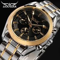 Мужские механические часы Jaragar Rich. Классические наручные часы с автоподзаводом на браслете