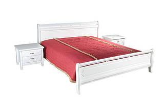 Кровать Флора 1,6х2 м белая, массив ольхи+МДФ