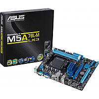 Мат.плата AM3+ (760G) Asus M5A78L-M LX3, 760G/SB710, 2xDDR3, Radeon HD 3000