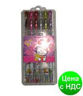 """Набор гелевых ручек с блестками """"Дисней"""" HY-006-12 """"Hello Kitty"""" 12 цв. (в футляре)"""