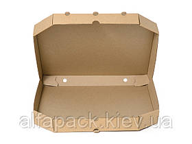 Коробка для пиццы бурая D-32, 320х320х37 мм