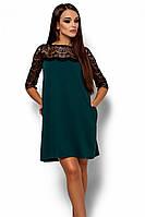 (S, M, L) Коктейльне темно-зелене плаття Angola
