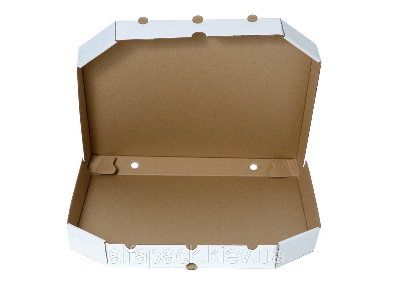Коробка для пиццы белая D-32, 320х320х37 мм
