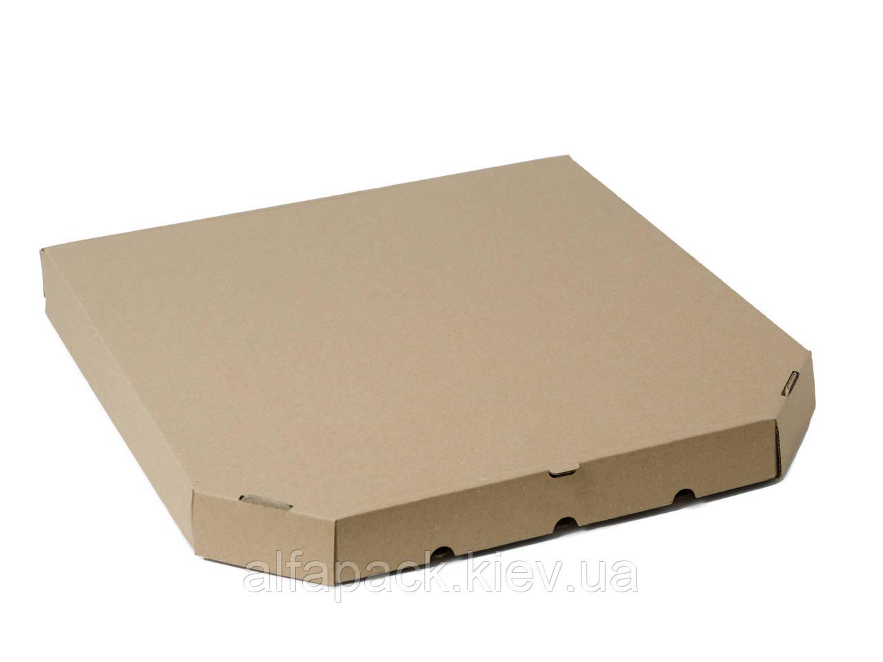 Коробка для пиццы бурая D-35, 350х350х37 мм