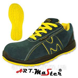 Защитные ботинки ARTMAS синего цвета с желтыми вставками BSport 3