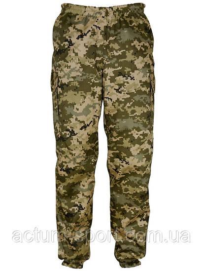 Утепленные мужские штаны на манжетах для охоты и рыбалки Pixel камуфляж