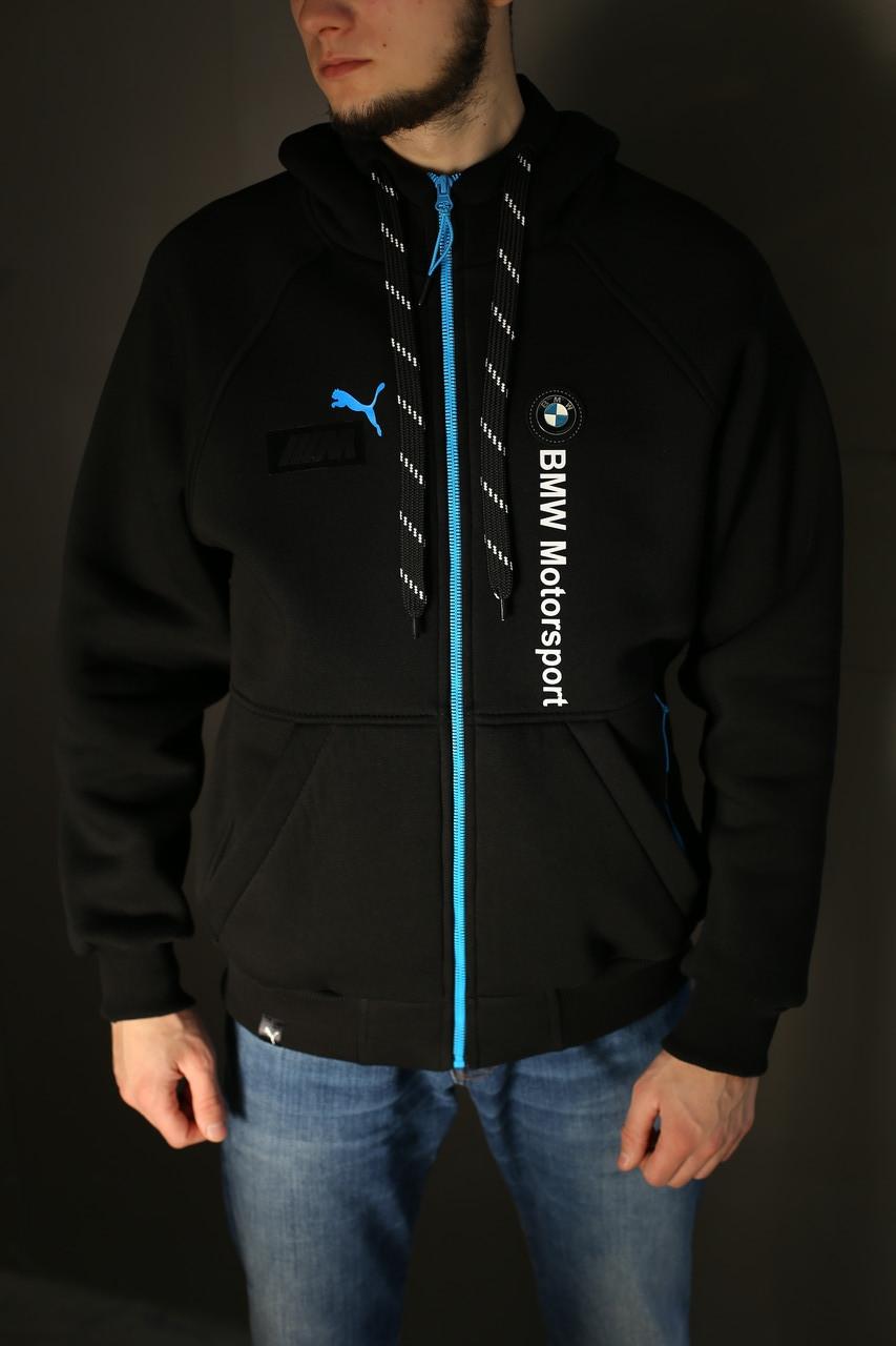 Толстовка мужская зимняя Puma BMW Motorsport (черная)