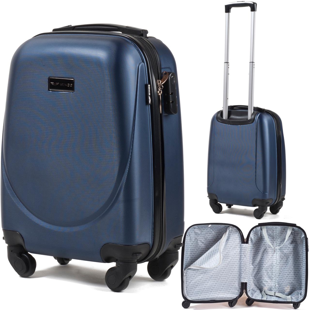 3703ba12b5fe Средний пластиковый чемодан Wings 310 на 4 колесах  продажа, цена в ...