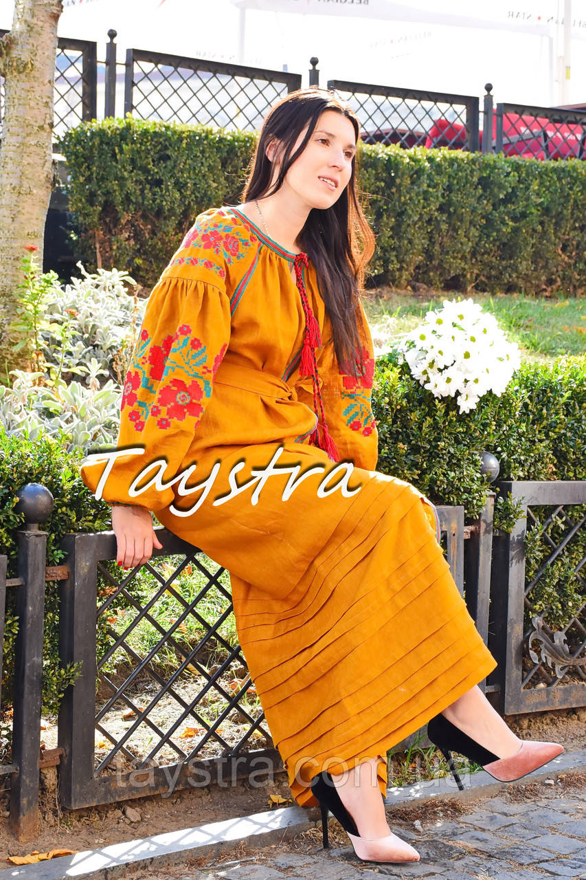 Вышиванка платье бохо шик, вишите плаття вишиванка, этно стиль Вита Кин