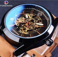Механические мужские часы Forsining Torres. Классические наручные часы скелетон
