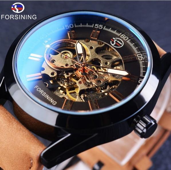 76e5cfe7 Механические мужские часы Forsining Torres. Классические наручные часы  скелетон - Интернет-магазин