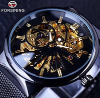 Механические мужские часы Forsining Leader. Наручные часы скелетоны классические