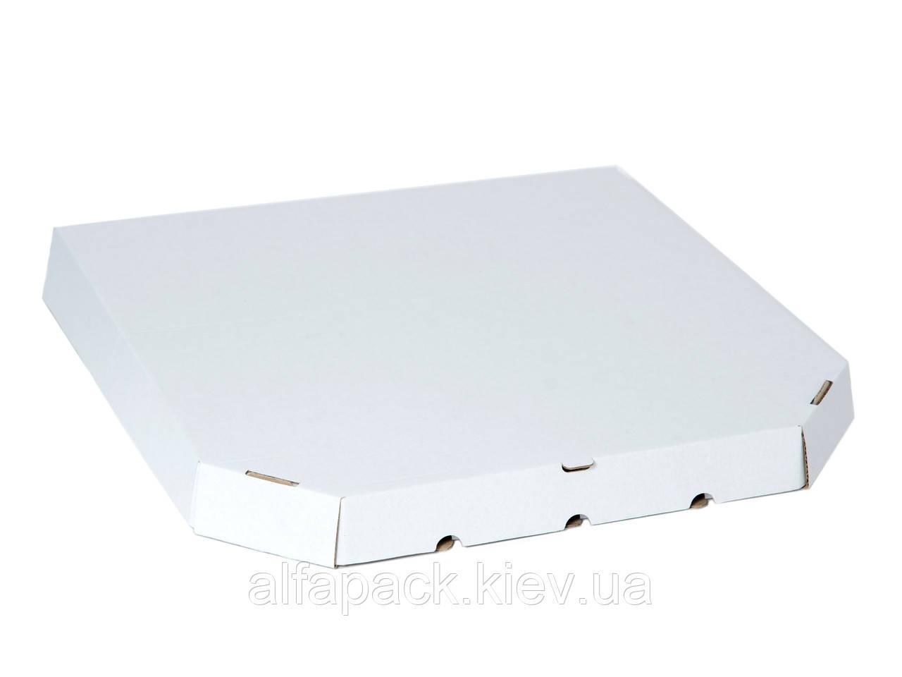 Коробка для пиццы белая D-35, 350х350х37 мм