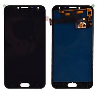Дисплей (модуль) + тачскрин (сенсор) Samsung Galaxy J4 2018 J400 J400F J400G (черный, яркость регулируется)