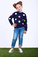 Джинсы для девочки 74KIDSBLUE р. 116 см Голубой