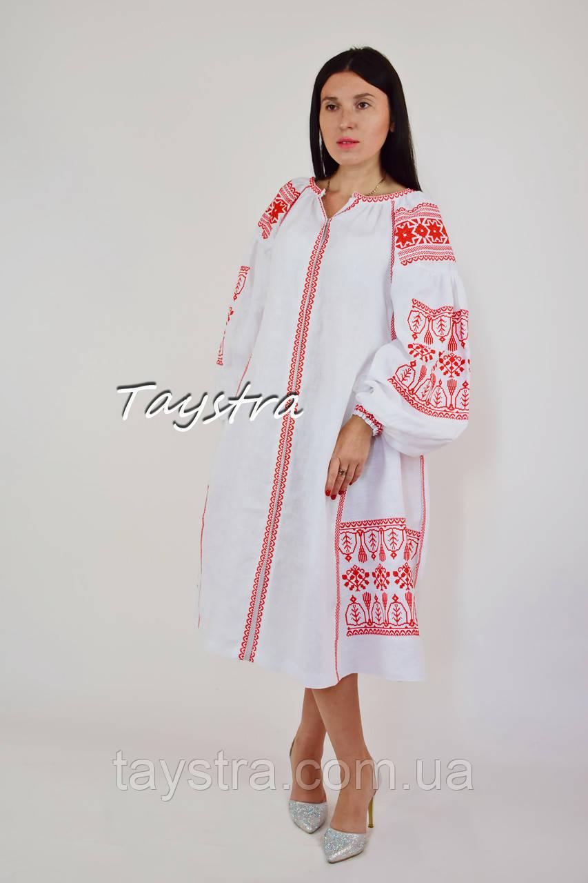 f432b84f111ce7 Вышитое платье вышиванка лен стиль бохо шик, вишите плаття вишиванка, этно  стиль Вита Кин