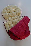 Конверт, чехол зимний темно-красный, фото 1