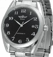 Мужские механические часы Winner Handsome. Классические наручные часы с отображением даты