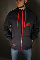 Толстовка мужская зимняя Nike (тёмно серая)