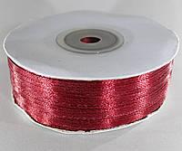 Лента атласная. Цвет - бордовый. Ширина - 0,3 см, длина - 123 м