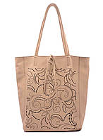 Сумка шоппер женская Laura Biaggi (54-33) кожаная пудровая, фото 1
