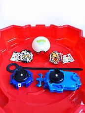 Игровой набор из 2-х волчков BeyBlade с ареной, пусковыми устройствами для запуска TD999L, фото 2