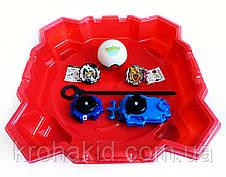 Игровой набор из 2-х волчков BeyBlade с ареной, пусковыми устройствами для запуска TD999L, фото 3