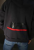 Толстовка мужская зимняя Reebok UFC (серая), фото 3