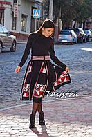 Вышитая юбка бохо шик, четыре клина, этно стиль юбка расклешенная, спідниця вишита
