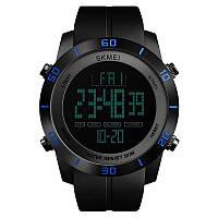 Мужские часы Skmei 1353 черные/синие, фото 1