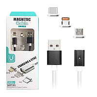 Магнитный Кабель 3in1 Metal Magnetic DM-M12 1м Black