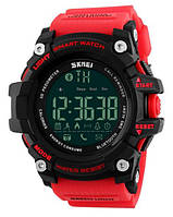 Наручные умные часы Skmei 1227 Smart Red. Спортивные смарт часы водонепроницаемые с Bluetooth