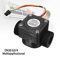 Счетчик SEN-HZ43WA расхода воды (2-60 литров в минуту) - диаметр 3/4 дюйма - для Arduino, фото 1