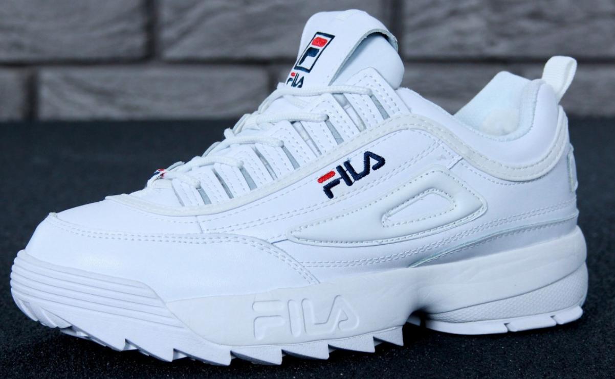 Зимние женские кроссовки Fila Disruptor 2(II) White с мехом 77aa967461adf